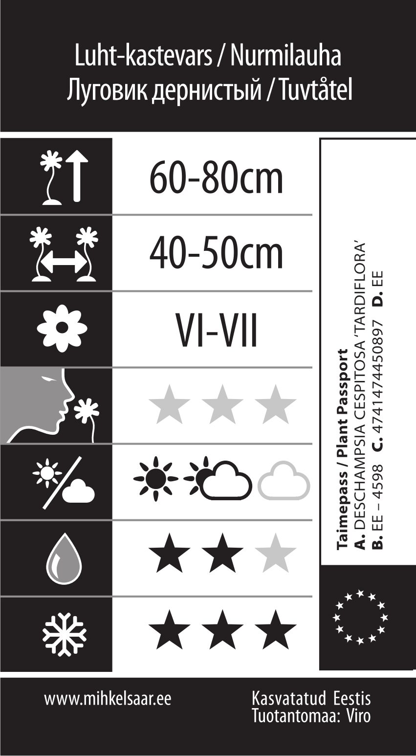 Etikett, Deschampsia