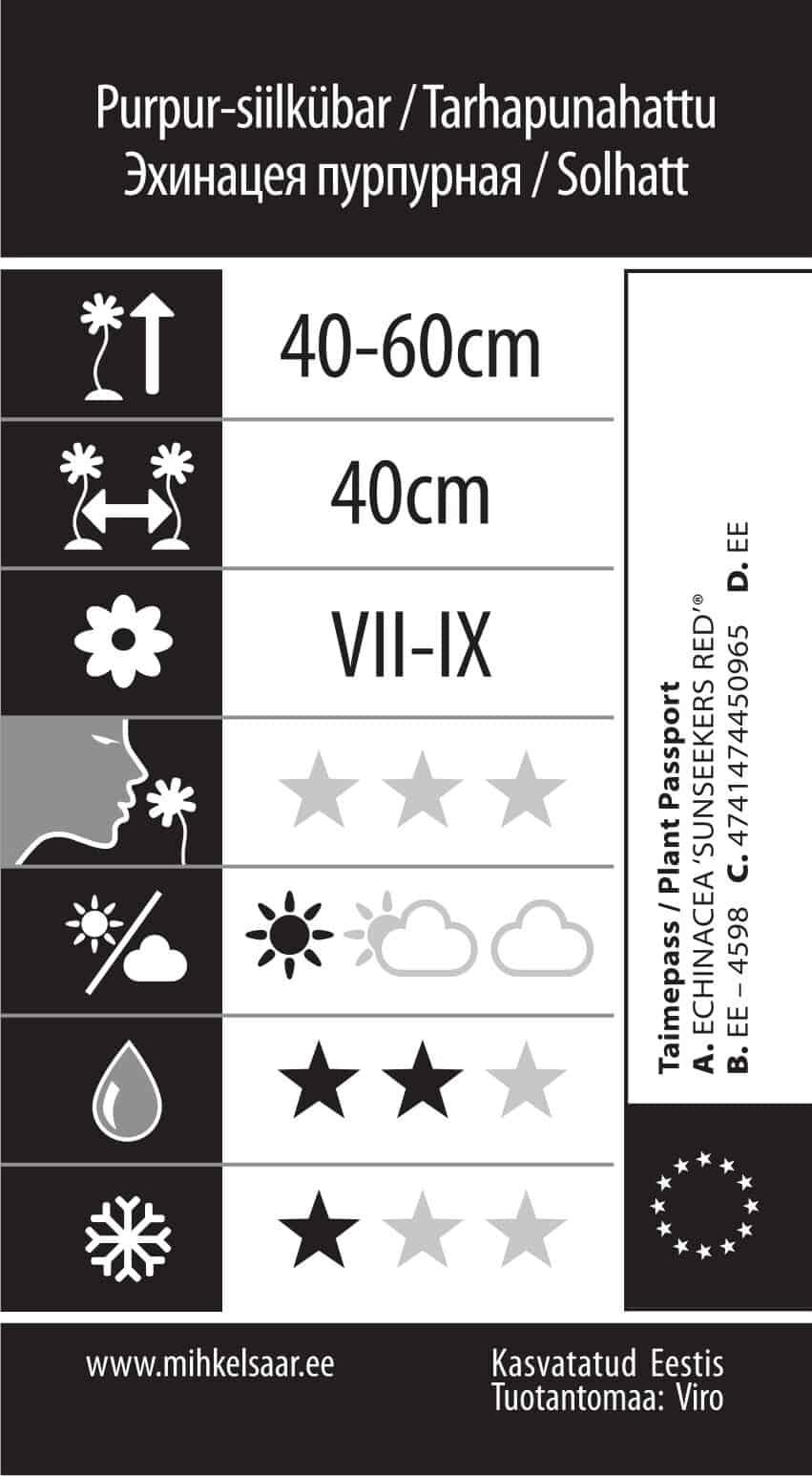 Etikett, Echinacea